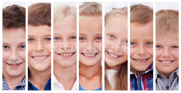 Collage of many smiles Stock photo © master1305