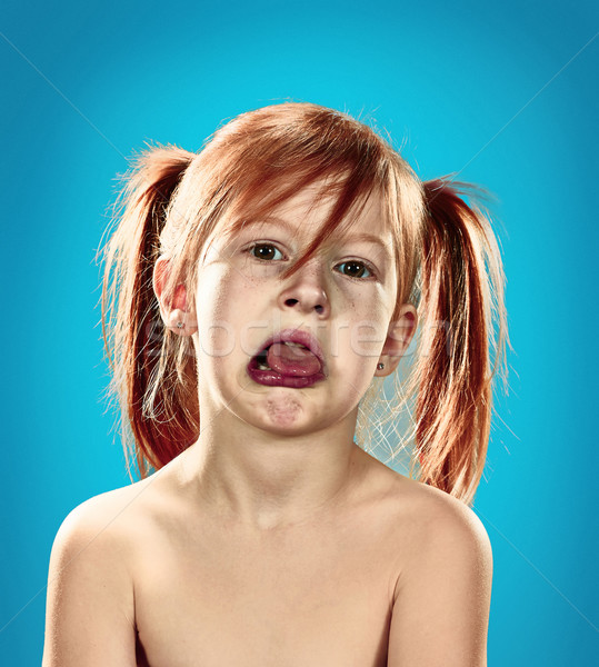 Beautiful portrait of a displeased disaffected little girl  Stock photo © master1305