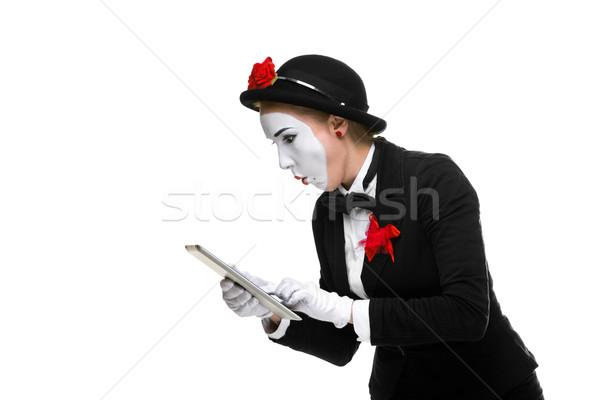 Mujer de negocios imagen sorprendido aislado Foto stock © master1305
