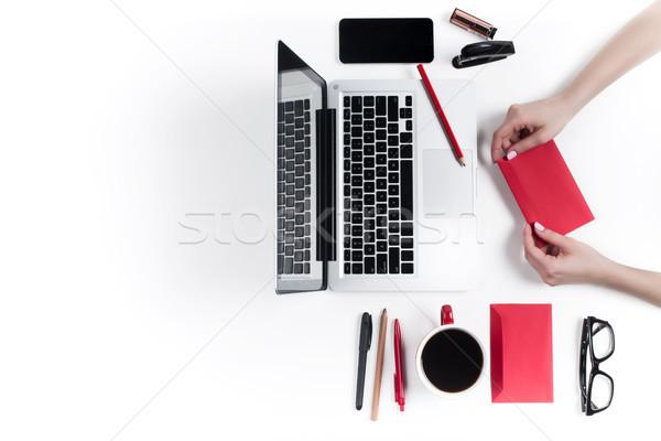 Lavoro ufficio tecnologia confortevole femminile Foto d'archivio © master1305