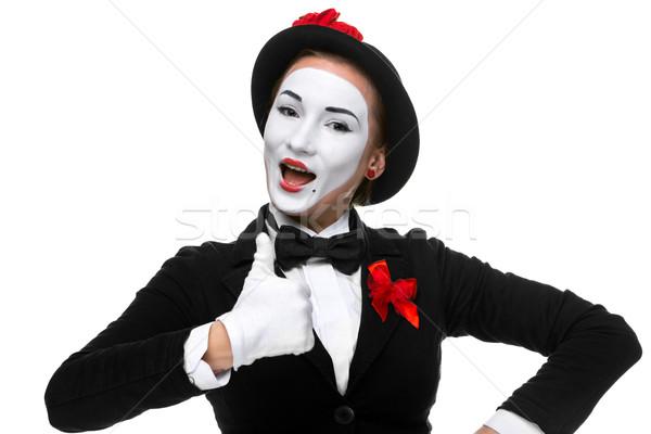 Retrato sorprendido alegre mujer aislado blanco Foto stock © master1305