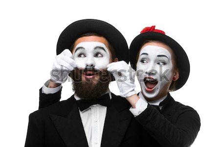 Due imprenditori donna faccia uomo Foto d'archivio © master1305