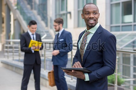 Stock photo: Portrait of multi ethnic  business team