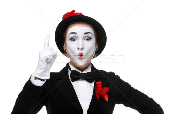 Retrato sorprendido alegre abierto boca mujer Foto stock © master1305