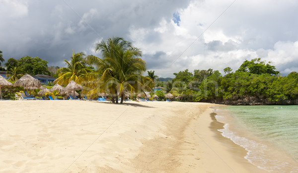 Strand tropisch eiland Blauw water hemel blauwe hemel Stockfoto © master1305