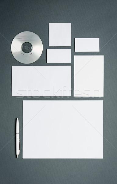 Iş şablon kartları kağıtları disk Stok fotoğraf © master1305
