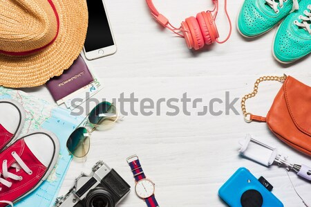 The travel and clothing accessories apparel along for the men Stock photo © master1305