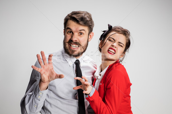 The militant business man and woman Stock photo © master1305