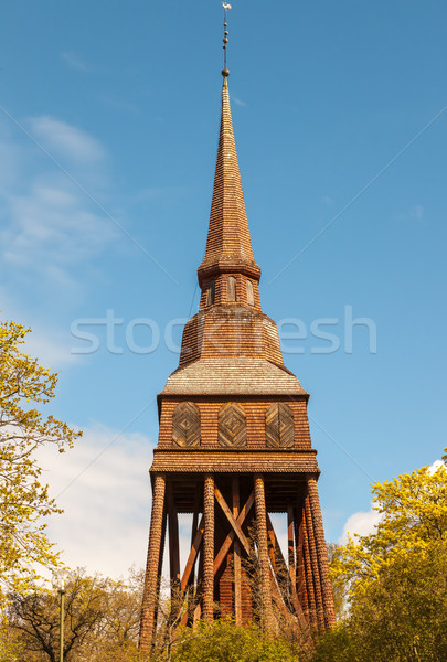 Traditional wooden Swedish Church Stock photo © master1305