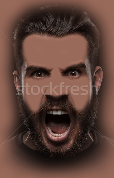 Portrait of young screaming man  Stock photo © master1305