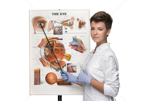 Optikus szemorvos nő struktúra szem fehér Stock fotó © master1305