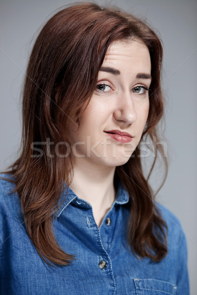portrait of disgusted woman Stock photo © master1305