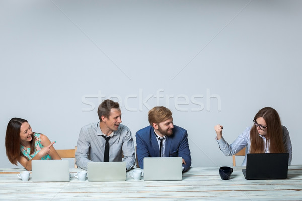 Business team working on their business project together at office Stock photo © master1305