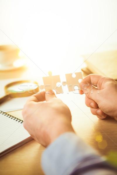 Stock fotó: épület · üzlet · siker · kezek · tanácsadás · marketing