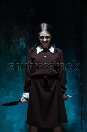 Halloween fou fille serpents portrait jeune fille Photo stock © master1305