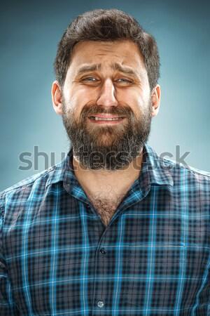 The crying man closeup Stock photo © master1305
