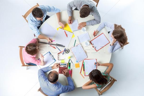 Top мнение бизнес-команды workspace сидят таблице Сток-фото © master1305