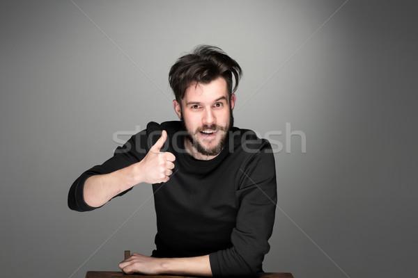портрет красивый молодые улыбаясь человека Сток-фото © master1305