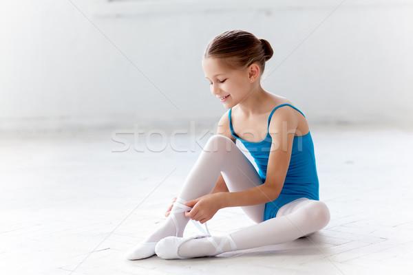 美しい バレリーナ 青 ドレス ダンス ストックフォト © master1305