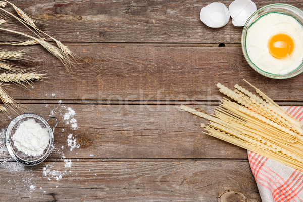 Healthy eating, noodle from the hard sorts of wheat Stock photo © master1305