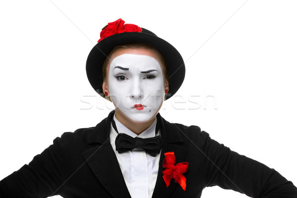 Portrait of the doubting mime  Stock photo © master1305