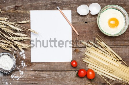 Stock photo: The bread on an wooden background