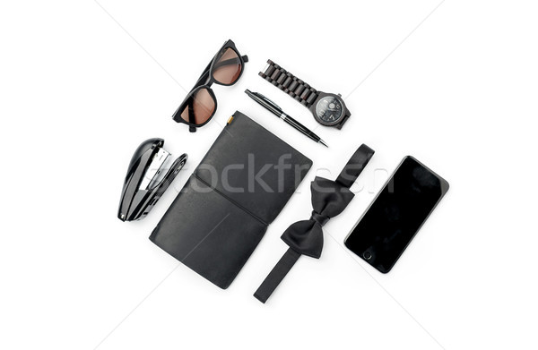 Still life of casual man. Modern male accessories on white Stock photo © master1305