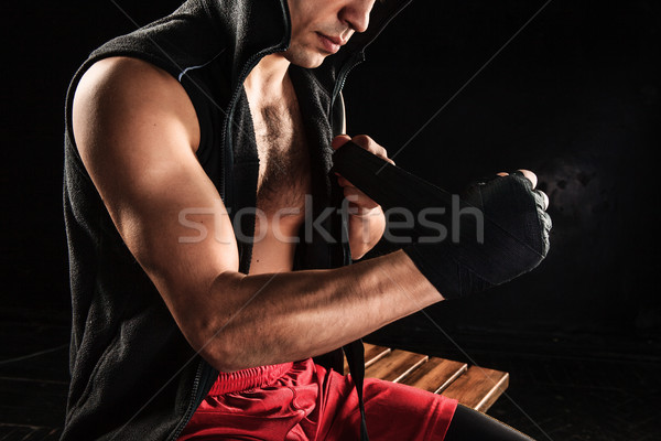 The hands of muscular man with bandage Stock photo © master1305