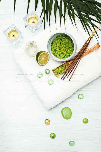 Spa setting with aroma oil, vintage style  Stock photo © master1305