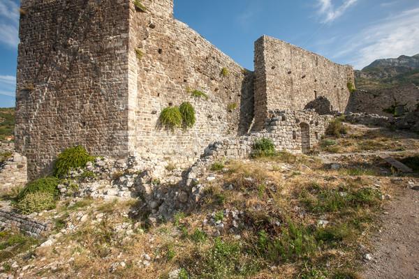 Magas erőd falak bár Montenegró festői Stock fotó © master1305