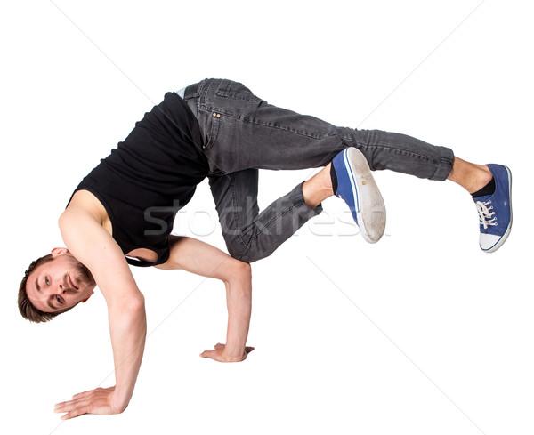 перерыва танцовщицы стойка на руках белый человека осуществлять Сток-фото © master1305