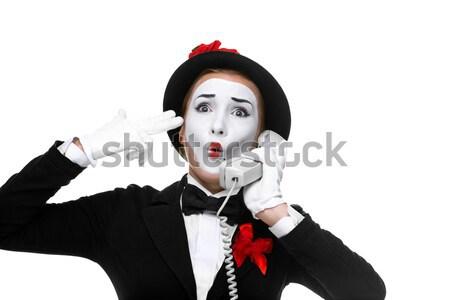Portre şaşırmış neşeli açmak ağız kadın Stok fotoğraf © master1305