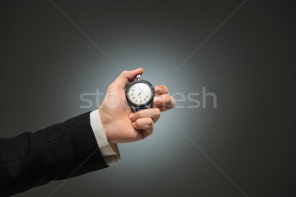Mano cronógrafo blanco masculina deporte Foto stock © master1305