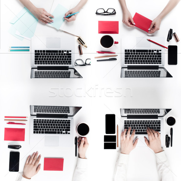 Group of Business People working together Stock photo © master1305