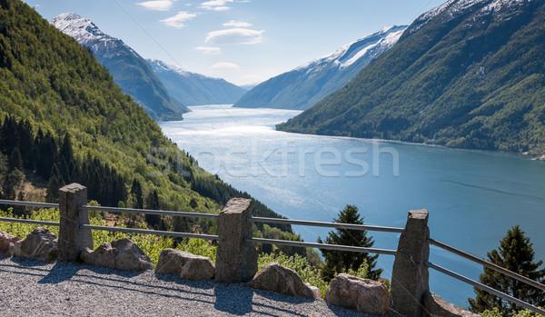 Schilderachtig landschappen noors noordelijk water voorjaar Stockfoto © master1305