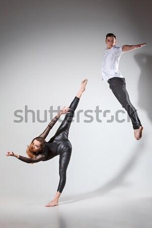 Młodych atrakcyjny nowoczesne baletnica biały czarny Zdjęcia stock © master1305
