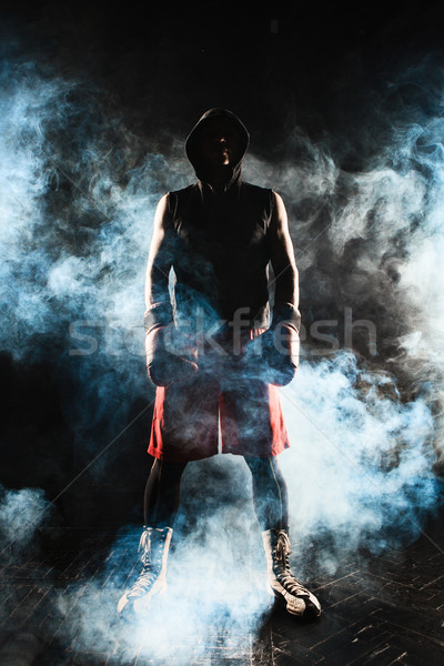 The young  man kickboxing  Stock photo © master1305