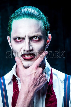 Terrible crazy clown and Halloween theme Stock photo © master1305