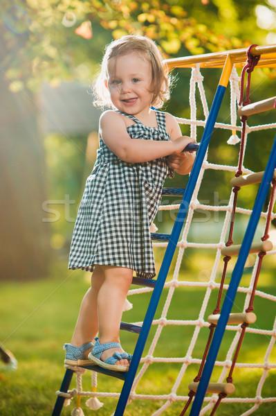 Mały gry zewnątrz boisko zielona trawa Zdjęcia stock © master1305