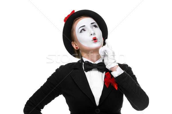 Retrato surpreendido alegre mulher isolado Foto stock © master1305