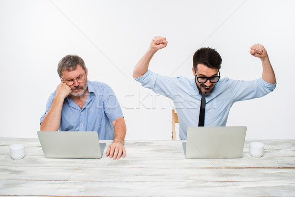 Dois colegas escritório branco tanto Foto stock © master1305