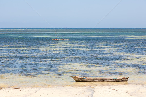 Starych arabski ocean połowów łodzi Zdjęcia stock © master1305