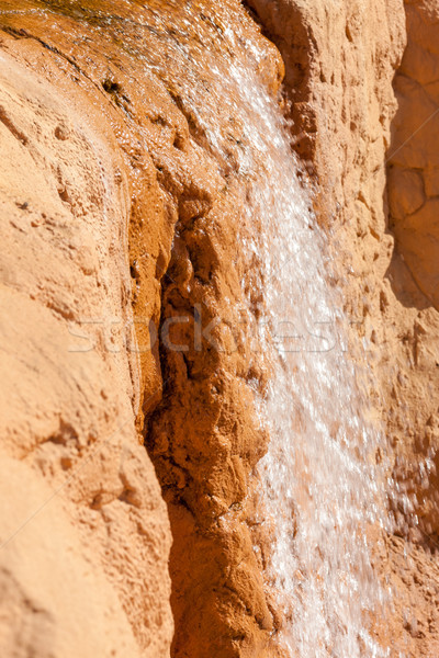 waterfall on a rock in Egypt Stock photo © master1305