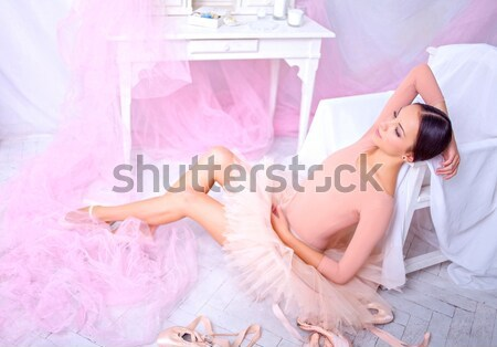 Professional ballet dancer resting after the performance. Stock photo © master1305