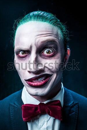 Terrible crazy clown and Halloween theme Stock photo © master1305