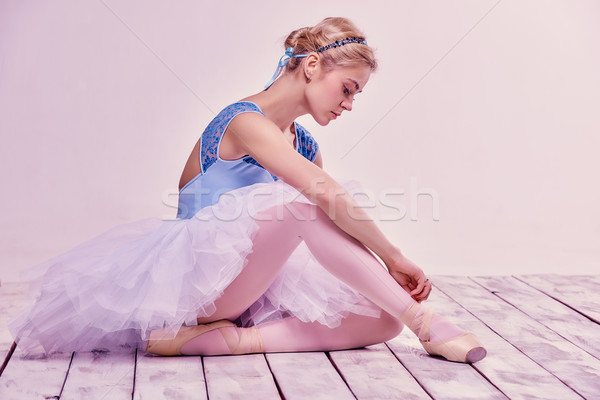 Professionnels ballerine rose fille Photo stock © master1305