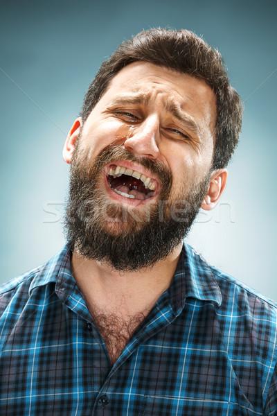 Choro homem pranto cara azul Foto stock © master1305