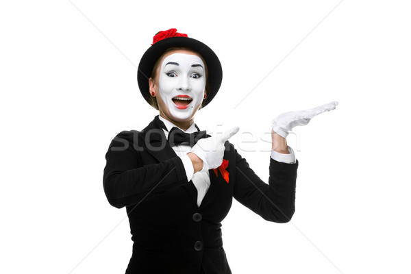 Retrato surpreendido alegre mulher isolado branco Foto stock © master1305