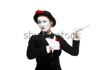Portrait of the sad and crying mime  Stock photo © master1305