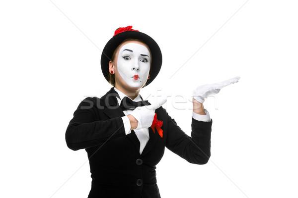 Retrato surpreendido mulher isolado branco aprovação Foto stock © master1305